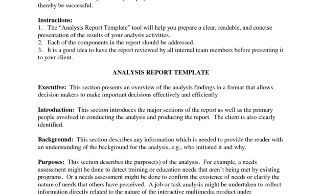 Downloadable Analysis Report Template Sample : V-M-D for Business Analyst Report Template
