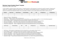 Downloadable Business Impact Analysis Template with regard to Business Impact Analysis Template Xls