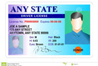Driver License Identity Card Stock Illustration pertaining to Blank Drivers License Template