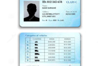 Driver License Illustration Stock Vector – Illustration Of within Blank Drivers License Template