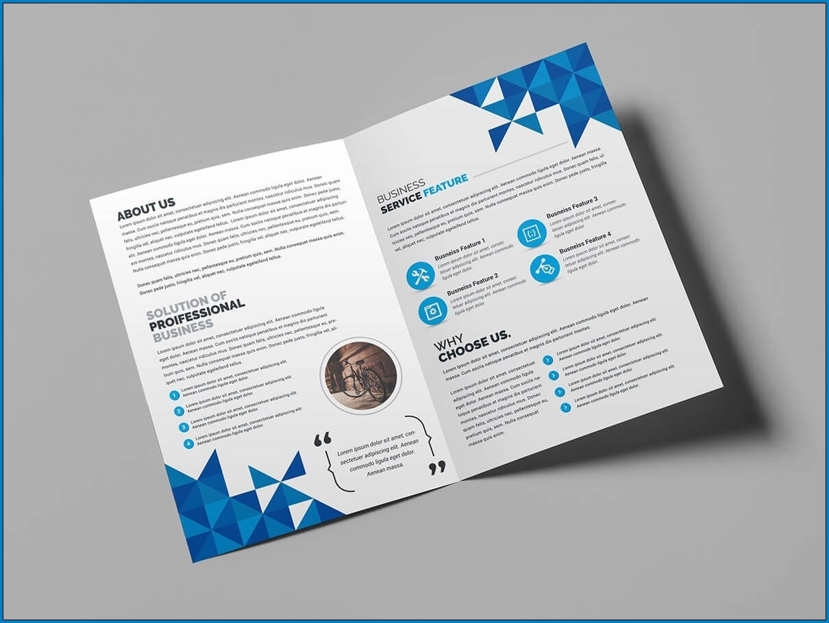 √ Free Printable Bi Fold Brochure Template | Templateral Within 2 Fold Flyer Template