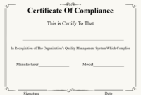 ❤️ Free Certificate Of Compliance Templates❤️ intended for Certificate Of Compliance Template