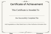 ❤️ Free Sample Certificate Of Achievement Template❤️ with Army Certificate Of Achievement Template