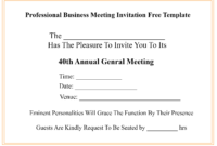 ❤️free Professional Business Meeting Invitation Template within Business Meeting Request Template