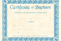❤️free Sample Certificate Of Baptism Form Template❤️ for Christian Baptism Certificate Template