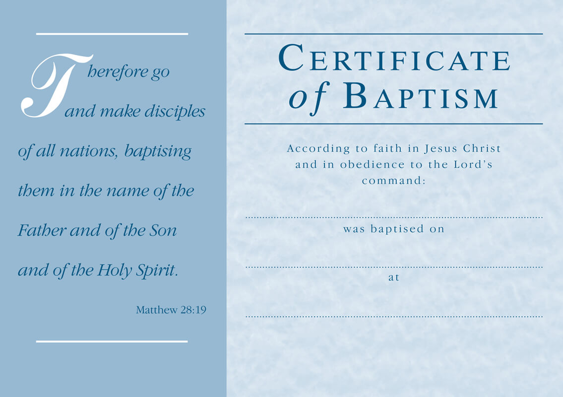 ❤️free Sample Certificate Of Baptism Form Template❤️ Throughout Christian Baptism Certificate Template
