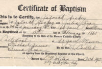 ❤️free Sample Certificate Of Baptism Form Template❤️ within Christian Baptism Certificate Template