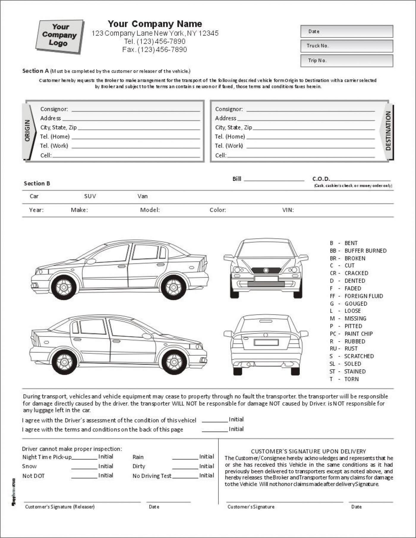 E8Fc7 Vehicle Damage Report Template | Wiring Resources Throughout Car Damage Report Template