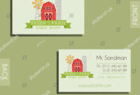 Eco Organic Visiting Card Template Natural Stock Vector throughout Bio Card Template