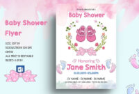 Editable Floral Baby Shower Invitation Templatemukhlasur within Baby Shower Invitation Templates For Word