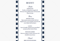 Editable Menu Cards Template Nautical Themelittlesizzle for Baby Shower Menu Template