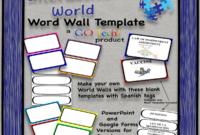 Editable Word Wall Template regarding Blank Word Wall Template Free