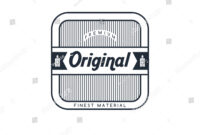 Electric Cigarette Badge Label Template Vector Stock Vector inside Artwork Label Template