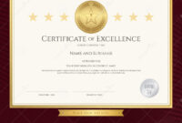 Elegant Certificate Template For Excellence, Achievement pertaining to Award Of Excellence Certificate Template