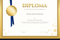 Elegant Diploma Certificate Template Completion intended for Christian Certificate Template