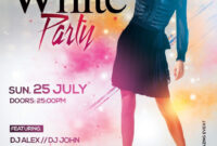 Elegant White Party – Free Psd Flyer Template » Free Psd Flyer throughout All White Party Flyer Template Free