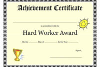 Employee Of The Month Certificate Template Word – Tunu within Best Employee Award Certificate Templates