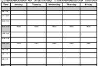 En Özgün Şiirler-En Anlamlı Sözler-Şiirceler: Timetable Template with regard to Blank Revision Timetable Template