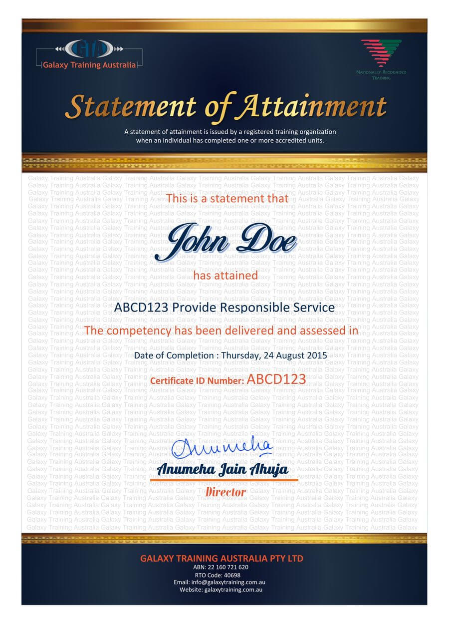 Entry #39Jackponco For Redesign A Certificate Template In Certificate Of Attainment Template