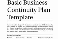 Example Business Continuity Plan Unique Simple Contingency for Business Hours Template Word