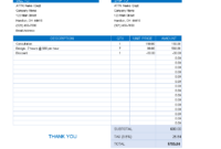Excel Bakery Invoice   Templates At Allbusinesstemplates with regard to Bakery Invoice Template