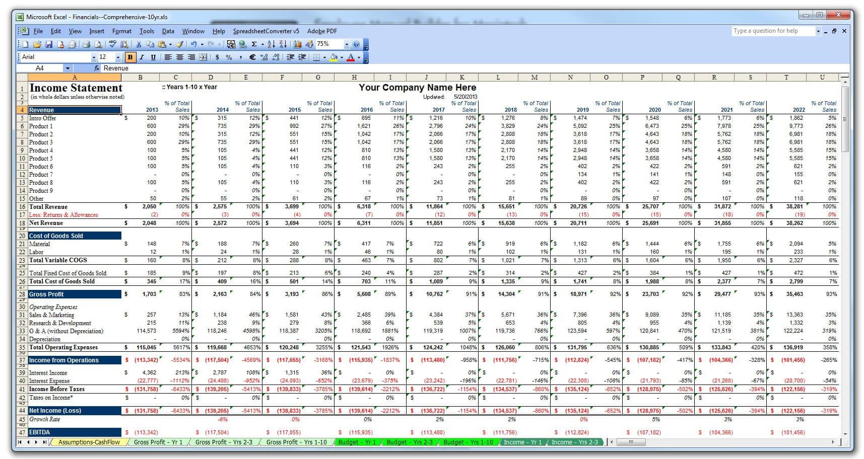 Excel Business Plan Template Stark Houseofstrauss Co In Business Plan Financial Template Excel Download