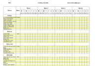 Excel Weekly Cleaning Schedule | Templates At intended for Bin Card Template