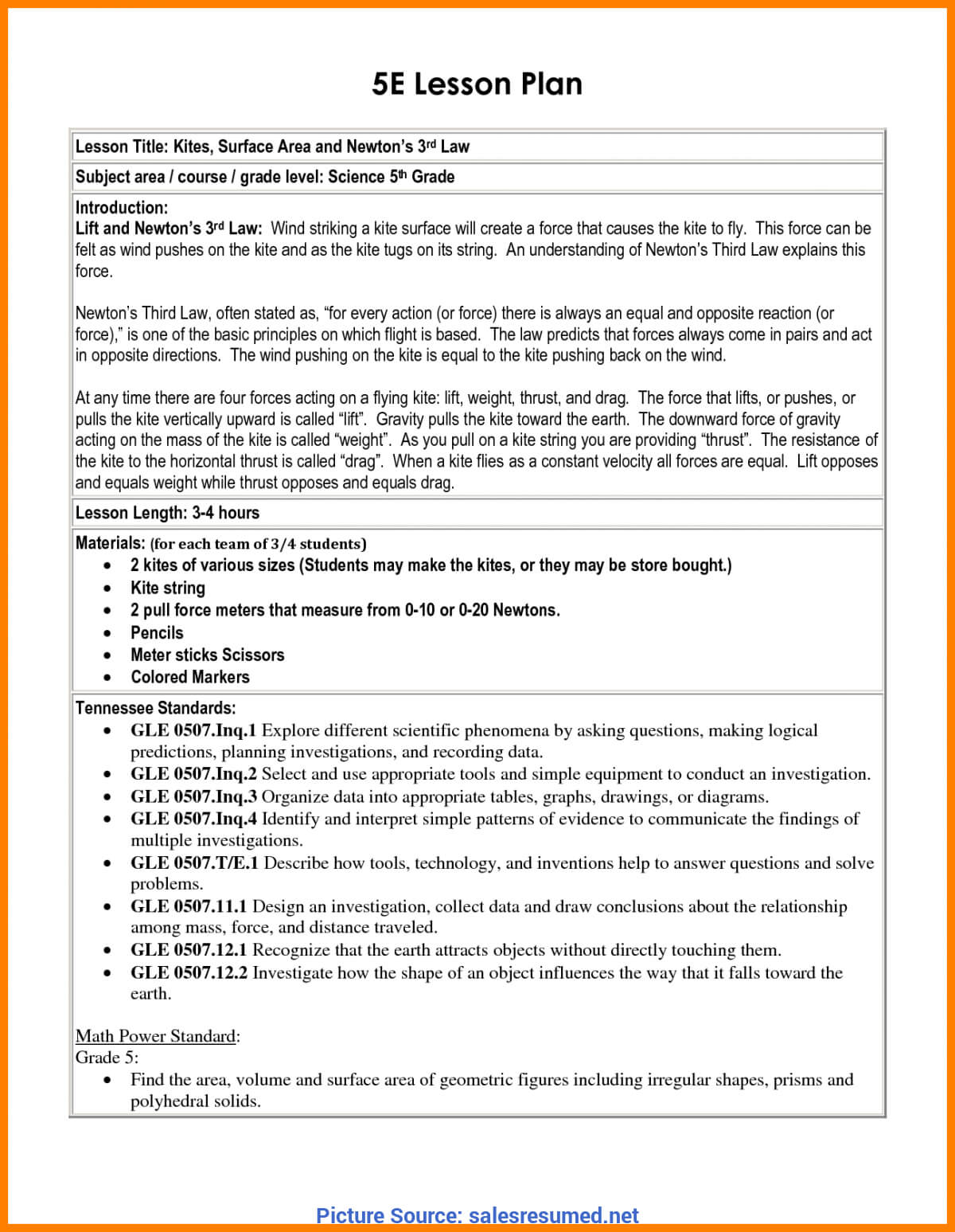 Excellent 5E Lesson Plan Math 8Th Grade 6+ 5 E's Lesson Plan With 5 E Lesson Plan Template