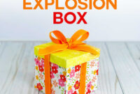 Explosion Box Card Tutorial: Endless Box – Free Svg File regarding Card Box Template Generator