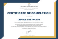 🥰free Certificate Of Completion Template Sample With Example🥰 for Certification Of Completion Template