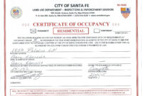 🥰free Certificate Of Occupancy Sample Templates & Example🥰 in Certificate Of Inspection Template