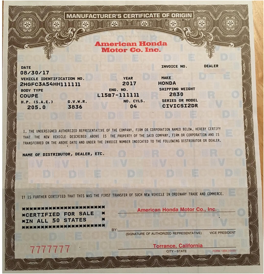 🥰free Printable Certificate Of Origin Form Template [Pdf Intended For Certificate Of Origin For A Vehicle Template