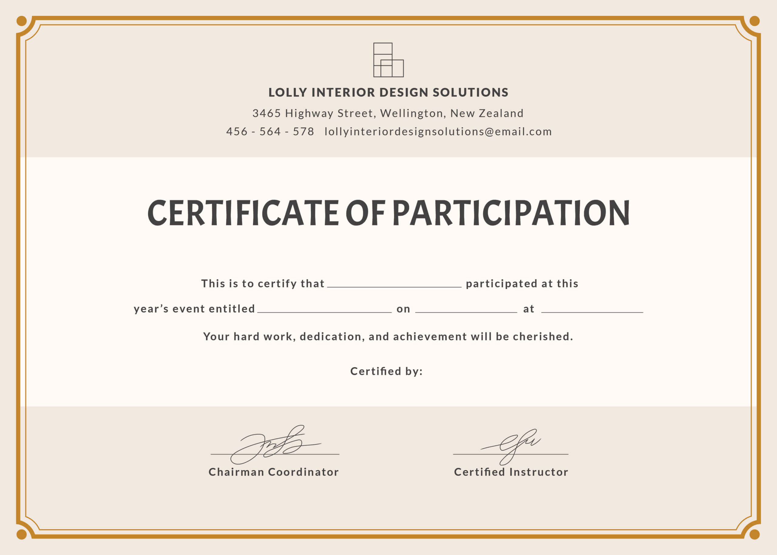 🥰free Printable Certificate Of Participation Templates (Cop)🥰 With Certificate Of Participation Template Pdf