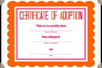 🥰free Printable Sample Certificate Of Adoption Template🥰 inside Child Adoption Certificate Template
