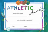 F264F Certificates Templates For Word And Sports Day within Athletic Certificate Template