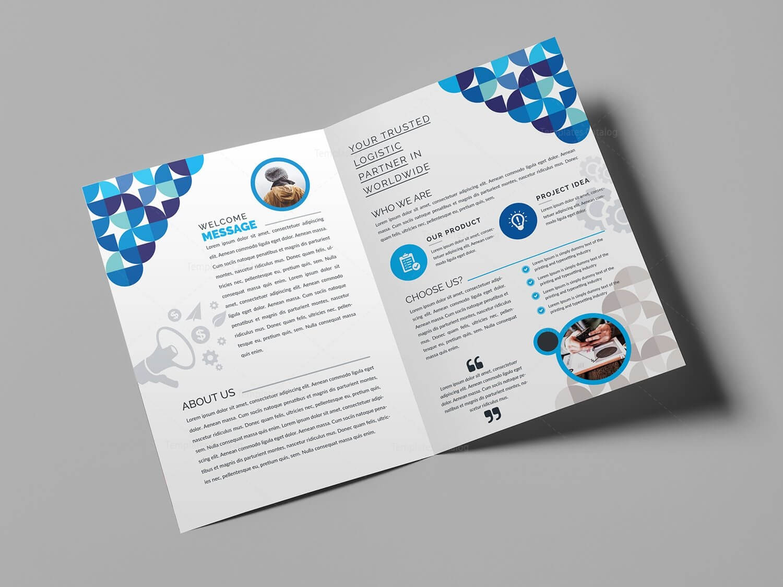 Fancy Bi Fold Brochure Template 000723 Intended For Bi Fold Menu Template