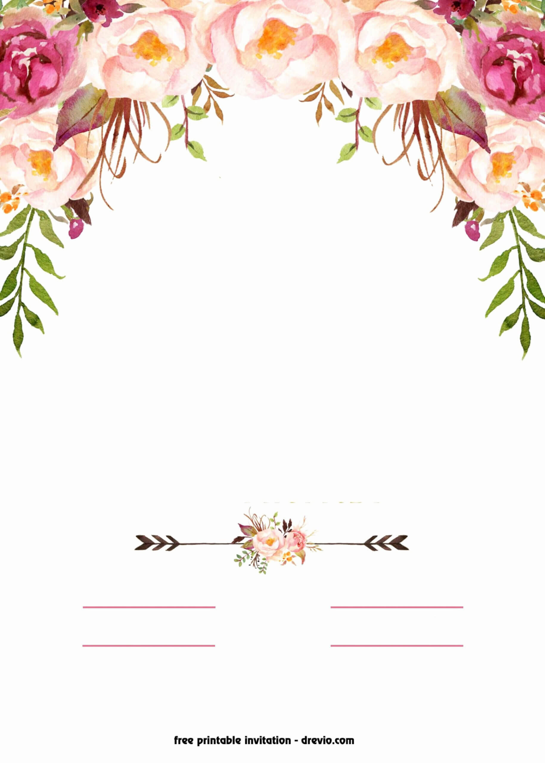 Fantastic Free Blank Invitation Templates Template Ideas Intended For Blank Templates For Invitations