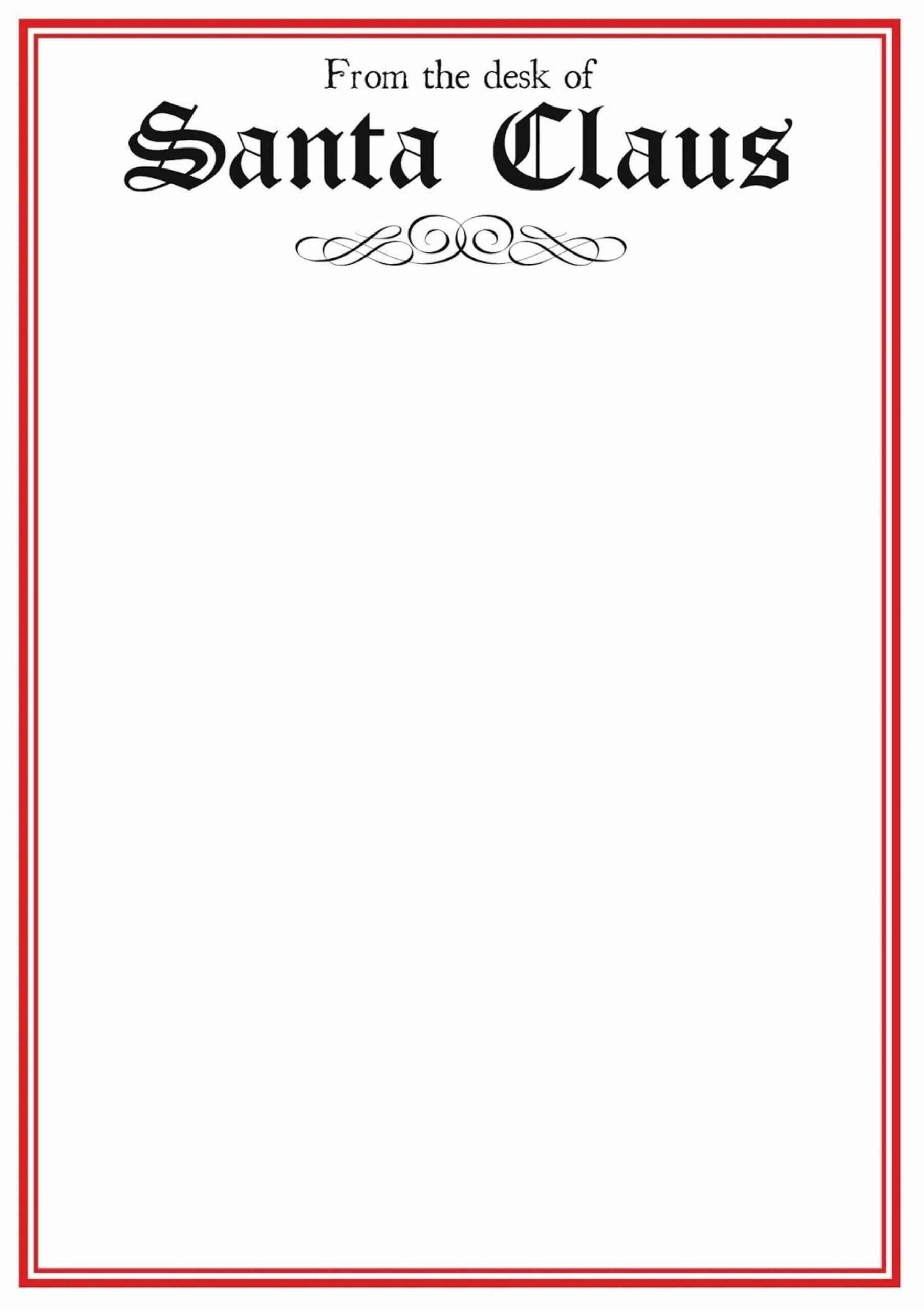 Fascinating Blank Letter From Santa Template Word Ideas Inside Blank Letter From Santa Template
