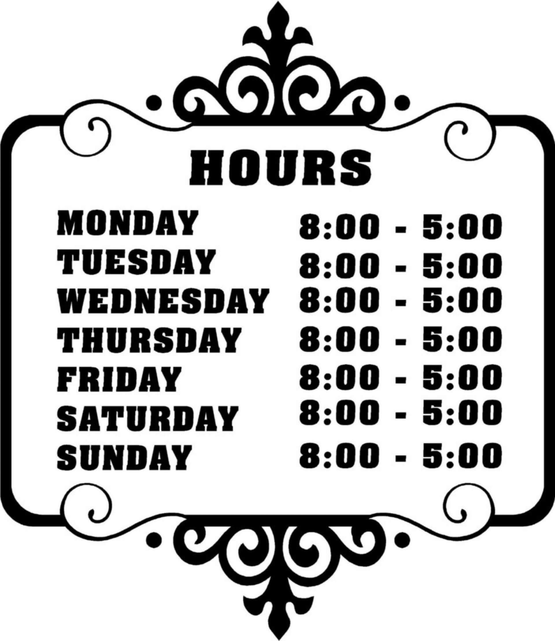 Fascinating Business Hours Template Microsoft Word Ideas Within Business Hours Template Word
