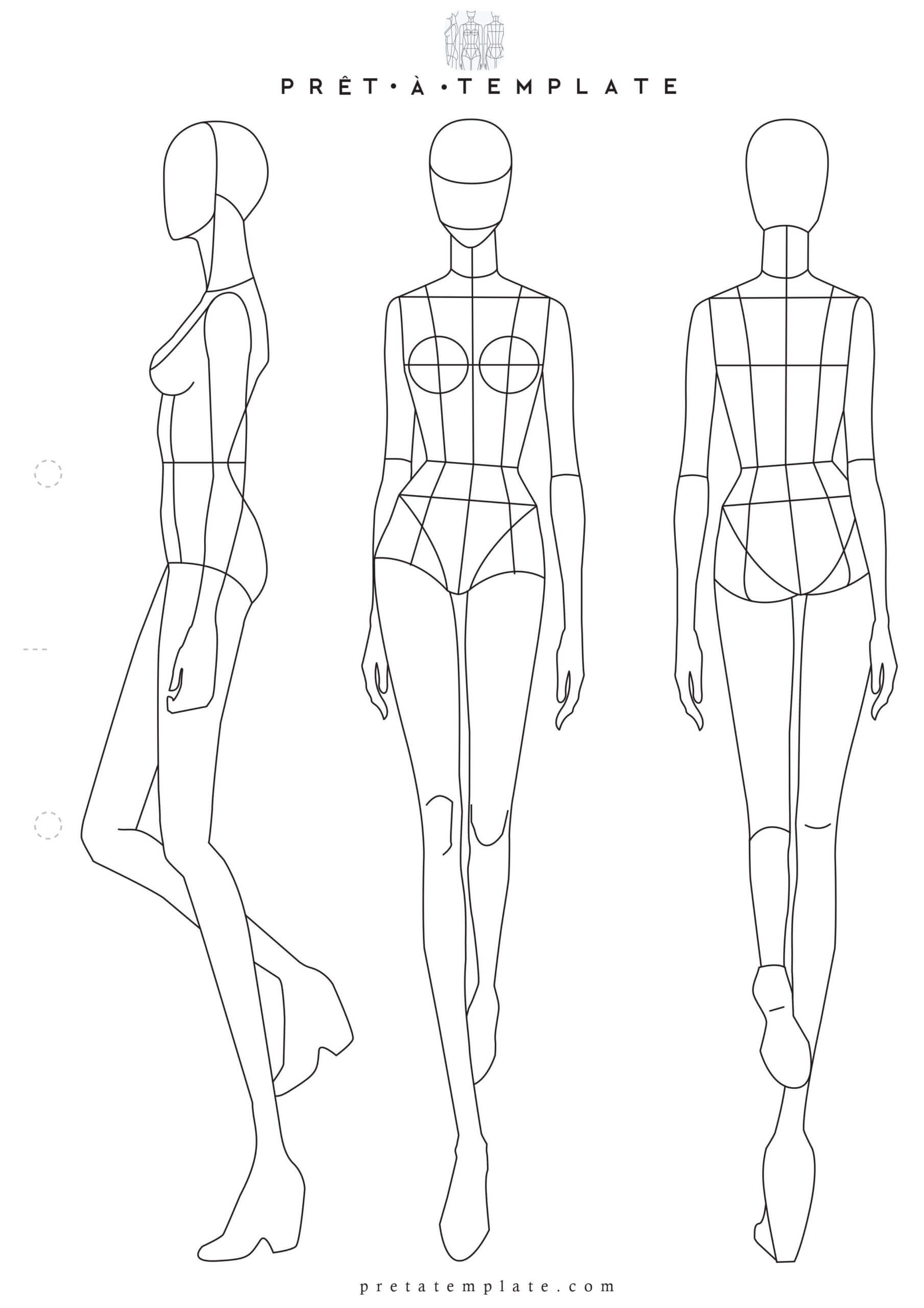 Fashion Model Sketch Template At Paintingvalley Throughout Blank Model Sketch Template