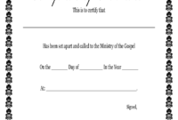 Fillable Online Printable Certificate Of Ordination intended for Certificate Of Ordination Template