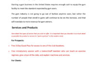 Fitness Gym Business Plan Template Sample Pages – Black Box inside Business Plan Template For A Gym