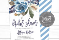 Floral Bridal Shower Invitation Template with Bridal Shower Invite Template