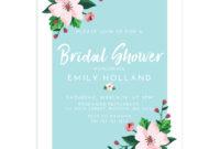 Flower Pop Bridal Shower Invitation (5X7) regarding Bridal Shower Invite Template