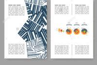 Flyer, Leaflet, Booklet Layout. Editable Design Template. A4 regarding 2 Fold Flyer Template