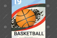 Flyer & Poster Cover Design Template For Basketball intended for Basketball Tournament Flyer Template