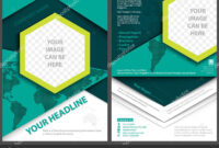 Flyer Template Geometric Style World Map Background Abstract for Adobe Illustrator Flyer Template