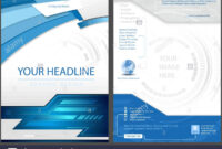 Flyer Template In Blue Tech Style Stock Vector Art pertaining to Adobe Illustrator Flyer Template