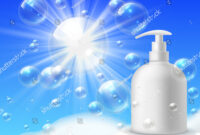 Foaming Wash Brand Clean Bubble Foam Stock Image | Download Now within Bubble Bottle Label Template