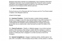 Formidable Non Compete Agreement Template Word Ideas with regard to Business Templates Noncompete Agreement